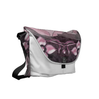 Gardenia Flora Pattern Courier Bags