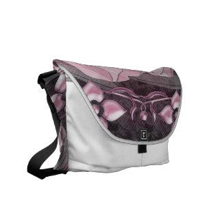 Gardenia Flora Pattern Courier Bags