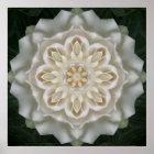 Gardenia Inner Glow Mandala Poster Print