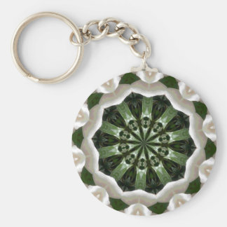 Gardenia Kaleidoscope Basic Round Button Key Ring