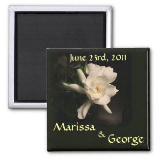 Gardenia Save the Date Wedding Magnet