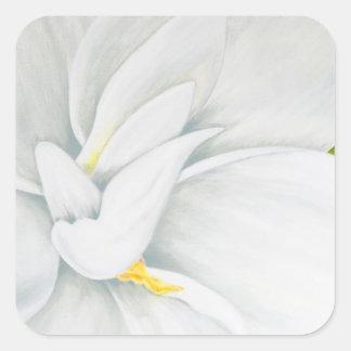 Gardenia Square Sticker