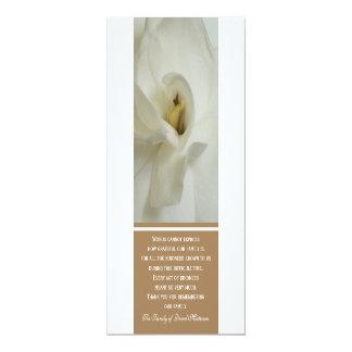 Gardenia Sympathy Thank You Invitation Card