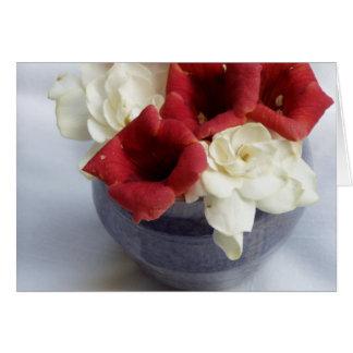 Gardenia & Trumpet Get Well Card