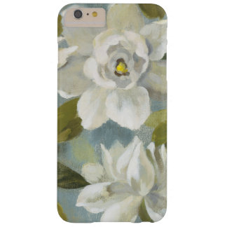 Gardenias on Slate Blue Barely There iPhone 6 Plus Case