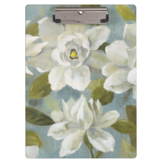 Gardenias on Slate Blue Clipboard