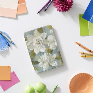 Gardenias on Slate Blue iPad Mini Cover