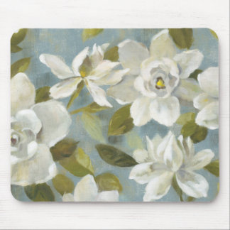 Gardenias on Slate Blue Mouse Pad
