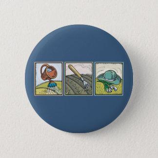 Gardening 6 Cm Round Badge