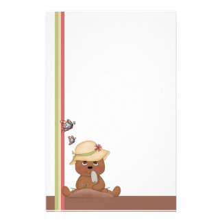 Gardening Bear Personalised Stationery