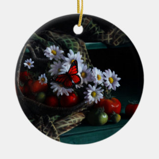 Gardening Bench Ceramic Ornament