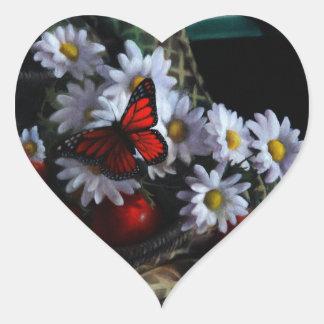 Gardening Bench Heart Sticker