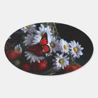 Gardening Bench Oval Sticker