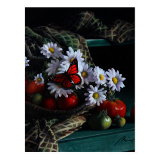 Gardening Bench Postcard