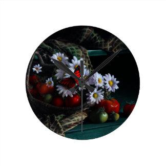 Gardening Bench Round Clock