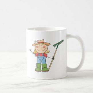 Gardening Girl  Waving A Greeting Coffee Mugs