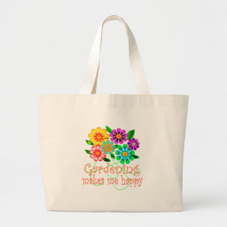Gardening Happiness Large Tote Bag