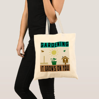 Gardening - It Grows On You Budget Tote Bag