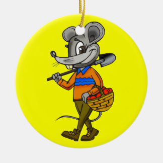 Gardening Mouse Christmas Tree Ornaments