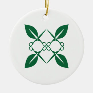 Gardening pattern ceramic ornament