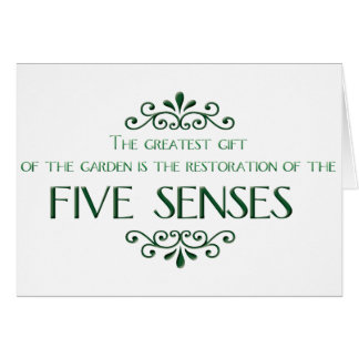 Gardening Quote Greeting Card
