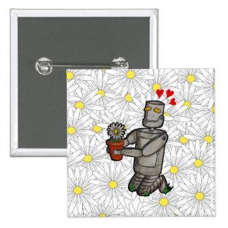 Gardening Robot 15 Cm Square Badge