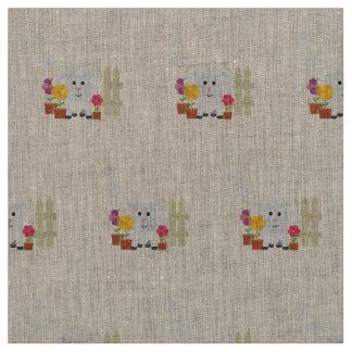 Gardening Sheep with flowers Z67e8 Fabric