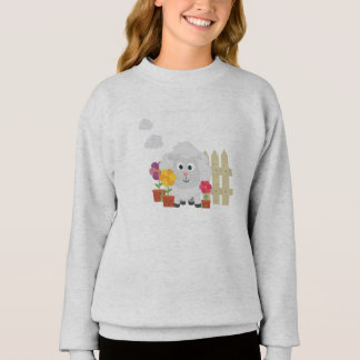 Gardening Sheep with flowers Z67e8 Sweatshirt