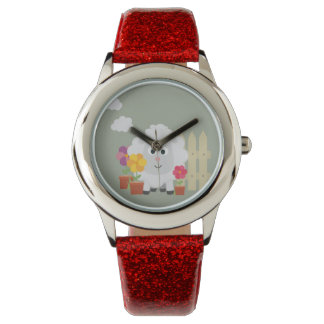 Gardening Sheep with flowers Z67e8 Watch