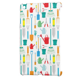 Gardening Tools Pattern iPad Mini Cover