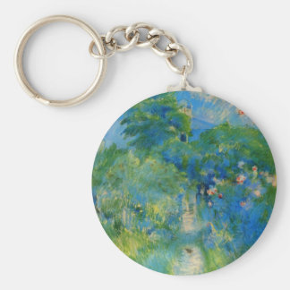 Gardenpath in Mezy by Berthe Morisot Key Chain