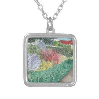 Gardens at Schloss Köpenick Silver Plated Necklace