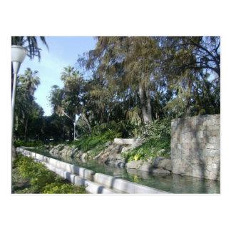 Gardens in Malaga Postcard
