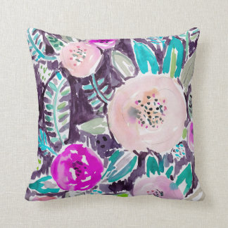 Gardens of Rockridge Painterly Watercolor Floral Throw Cushions
