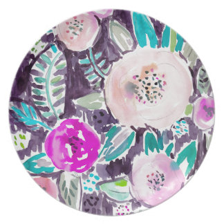 Gardens of Rockridge Painterly Watercolor Floral Dinner Plate