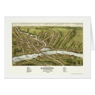 Gardiner & Pittston, ME Panoramic Map - 1878 Card
