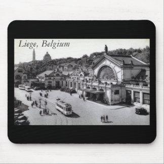 Gare des Guillemins, Liege Belgium Vintage Mouse Pad