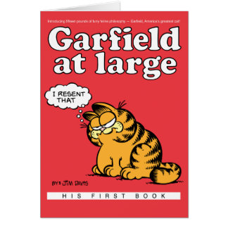 Garfield At Large Note Card