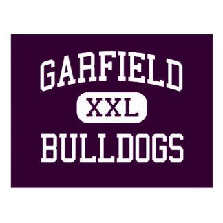 Garfield - Bulldogs - High - Commerce California Post Cards