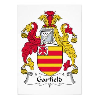 Garfield Family Crest Custom Invitation