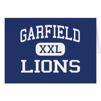 Garfield - Lions - High - San Diego California Cards