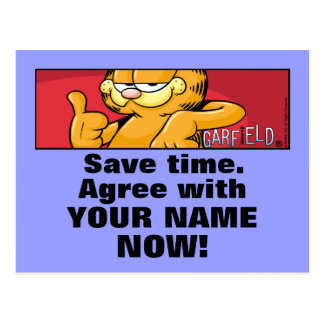 Garfield Logobox Agree With Me Postcards
