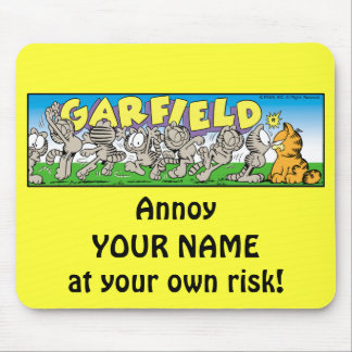 Garfield Logobox Annoy Me Mousepad