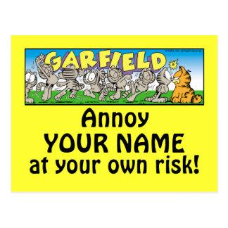 Garfield Logobox Annoy Me Postcards