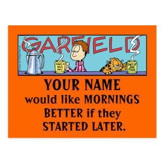 Garfield Logobox Mornings Postcards