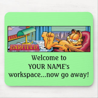 Garfield Logobox Now Go Away Mousepad
