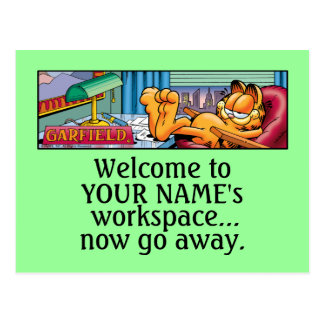 Garfield Logobox Now Go Away Postcards