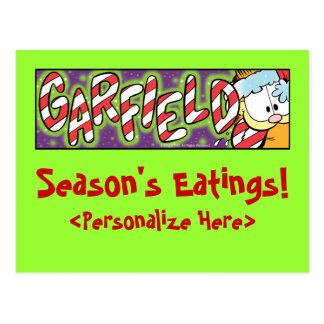 Garfield Logobox Season's Eatings Postcards