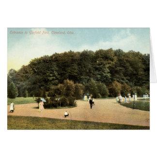 Garfield Park, Cleveland Ohio 1910 vintage Greeting Card