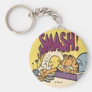 Garfield Smashing Clock, keychain